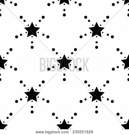 Star Seamless Pattern. Cute Kids Star Seamless Pattern. Seamless Patter With Stars. Star Background.