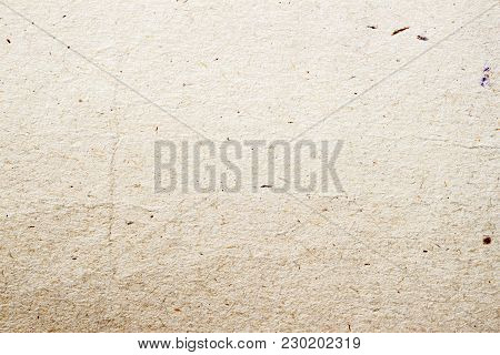 Paper Texture Organic Cardboard Background Close-up. Grunge Old Vintage Ecological Paper Surface Wit