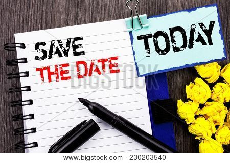 Writing Text Showing  Save The Date. Business Photo Showcasing Wedding Anniversary Invitation Remind
