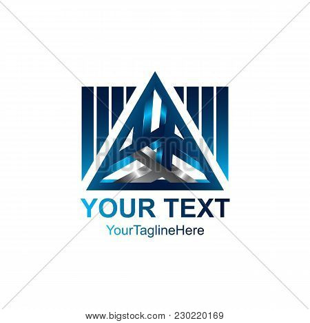 3D Abstract Triangle Vector Logo Concept Illustration. Pyramid Triangle Logo. Financial Stability Co