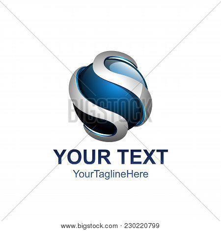 Letter S 3D Logo Vector Illustration Template, Letter S Trend Logo Vector, Creative Letter S Letter