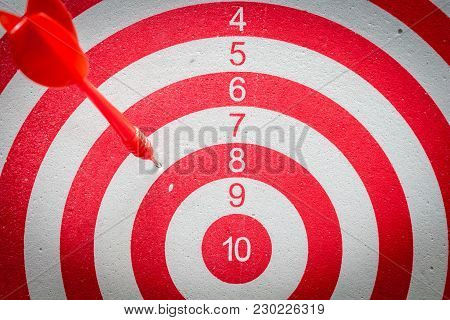 Dart Board Is The Target And Goal