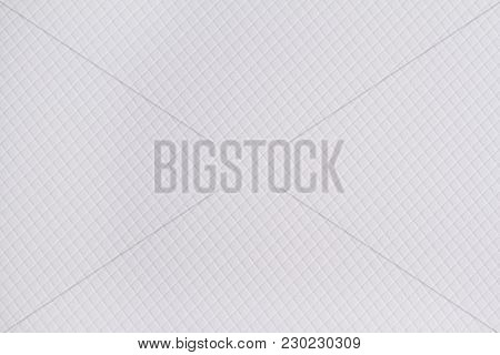 Horizontal Front View Of Flat White Intreccio Paper Texture With Embossed Ornament
