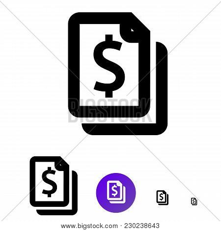 Payment Online Icon For Business, E-commerce. Vector Line Icon With Image Monetary Sign Of Different