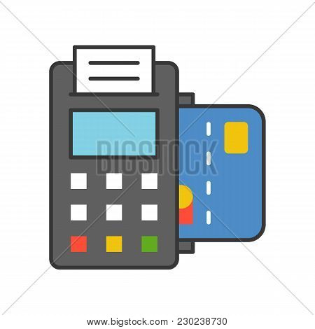 Credit Card Machine, Payment Method Filled Outline Icon