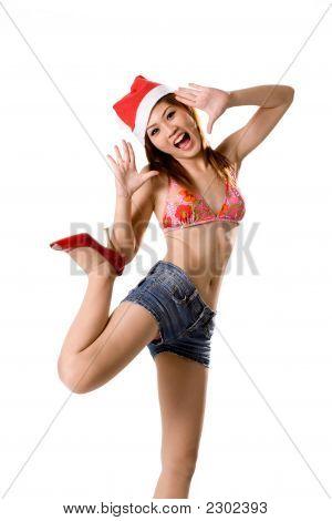 Sexy Santa With Leg Up
