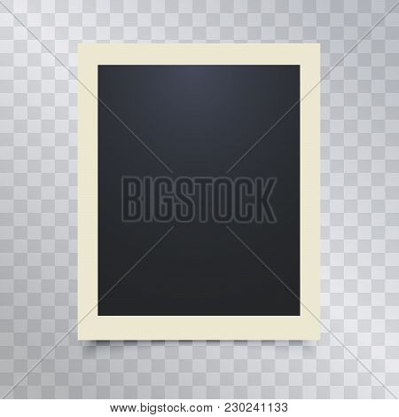 3d Picture Photo Frame Design Vector For A4 Image Or Text. Foto Realistic Square Empty Picture Frame