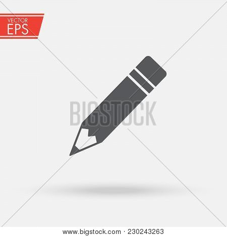 Pencil Edit Icon. Symbol Of Writing And Editing. Sign Of The Writer. An Emblem For Entering Informat