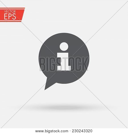 Information Sign Icon. Info Speech Bubble Symbol. News And Updates Symbol. Information And Notificat