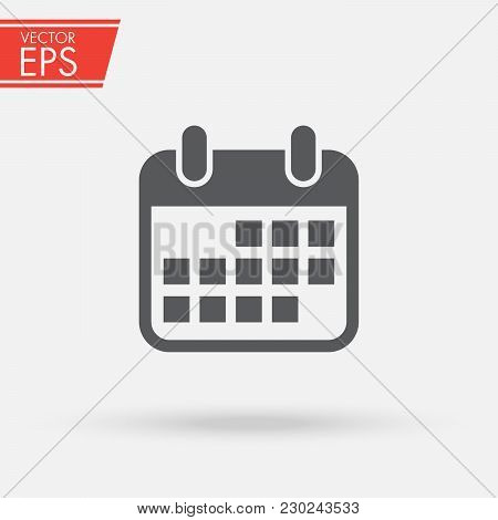 Calendar Isolated Flat Web Mobile Icon . Calendar Symbol For Your Web Site Design, Logo, App, Ui. Ve