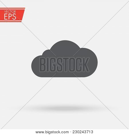 Cloud Computing Upload, Download Icon. Server, Network, Technology, Data Center Concept. Trendy Flat