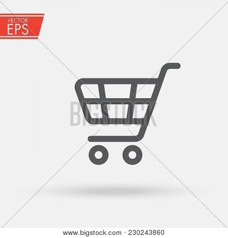 Supermarket Shopping Cart. Fast Delivery Symbol. Sale Buy Business Icon. Purchase Market Commercial