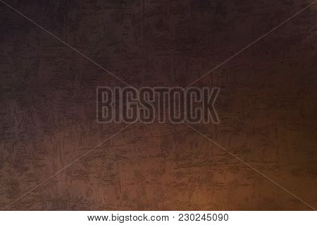 Texture Of The Dark Brown Decorative Stucco Plaster Wall As A Background. Bark Beetle Style For Elit