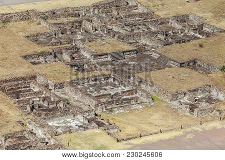 Top View Of Ancient Ruins. Teotihuacan. Mexico City. Mexico
