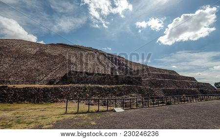 At The Foot Of The Piramyd Of The Sun. Teotihuacan. Mexico City Mexico