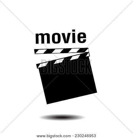 Movie Clapper Board White Background Vector Image