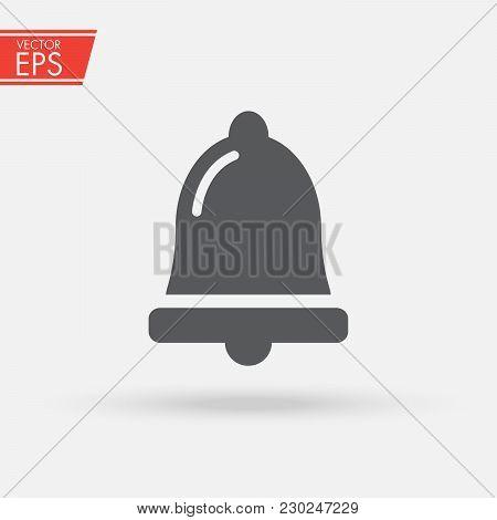 Bell Notification Icon Vector, News And Updates Symbol, Alarm, Service Bell, Handbell Sign Trendy Fl
