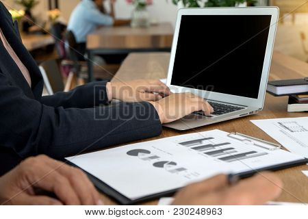 Businessman Working The Business Plan  And Analysis