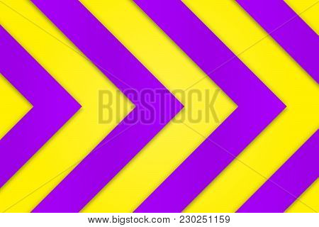 Vivid Purple Background With Bright Saturated Yellow Arrows