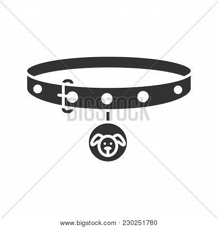 Dog's Neck Collar Glyph Icon