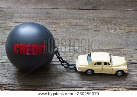 Slave And Shackle Of Credit  Car Loan Abstract Concept