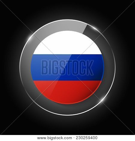 Russian Federation, Russia National Flag. Application Language Symbol. Country Of Manufacture Icon.