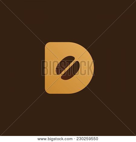 Letter D Coffee Logo Icon Design Template Elements