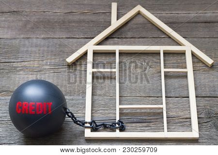 Slave And Shackle Of Credit  Home Loan Abstract Concept