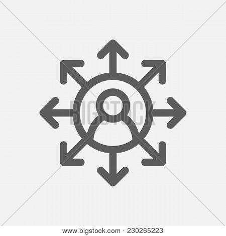 Core Values: Accountability Icon Line Symbol. Isolated Vector Illustration On Core Values Multitaski