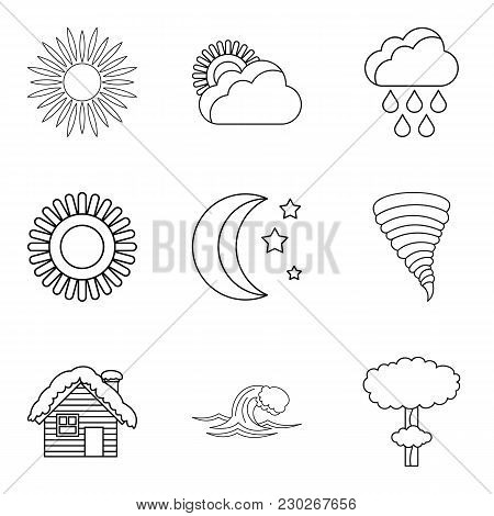 Correct Prediction Icons Set. Outline Set Of 9 Correct Prediction Vector Icons For Web Isolated On W