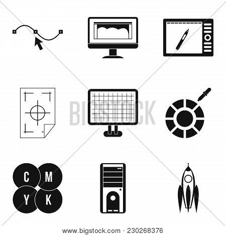 Web Dev Icons Set. Simple Set Of 9 Web Dev Vector Icons For Web Isolated On White Background