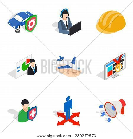 Work Plan Icons Set. Isometric Set Of 9 Work Plan Vector Icons For Web Isolated On White Background
