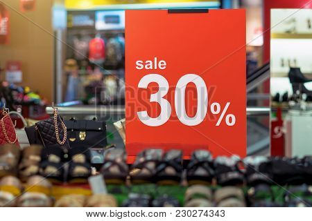 Sale 30% Off Mock Up Advertise Display Frame Setting Over The Women Shoes Shelf In The Shopping Depa