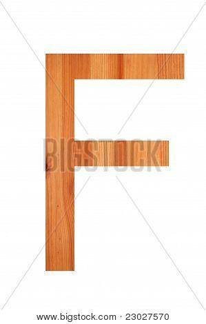 Wood Alphabet F