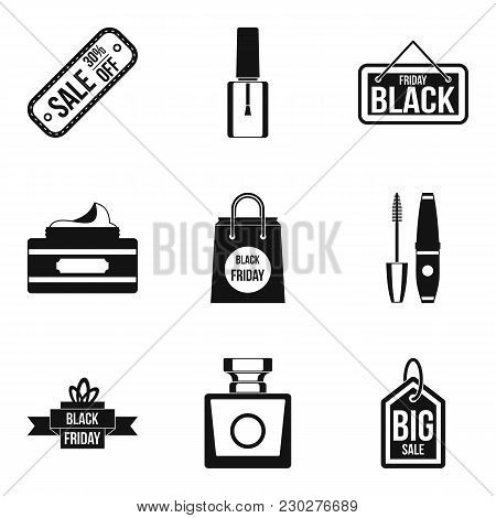 Ladies Day Icons Set. Simple Set Of 9 Ladies Day Vector Icons For Web Isolated On White Background