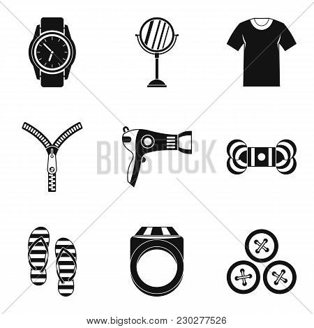Feminine Accessories Icons Set. Simple Set Of 9 Feminine Accessories Vector Icons For Web Isolated O