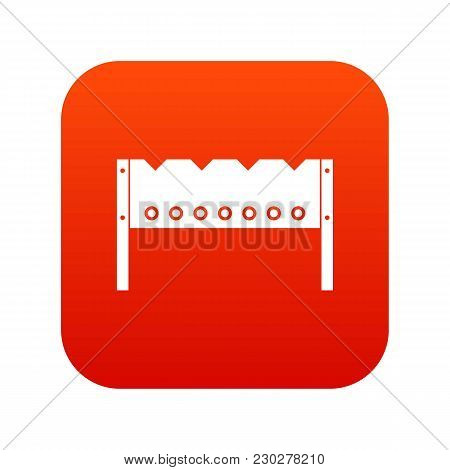 Brazier Icon Digital Red For Any Design Isolated On White Vector Illustration