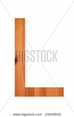 Wood Alphabet L