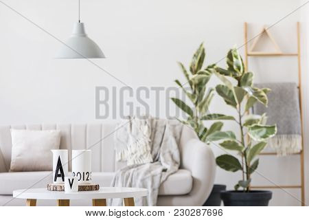 Round Table With White Jugs