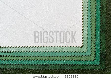 Green Colors Of Leather