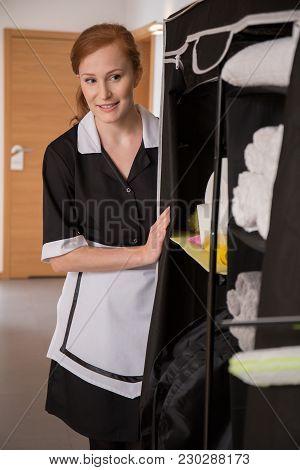 Housekeeper Segregating Sanitary Article