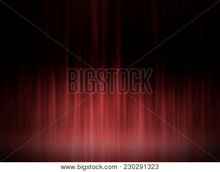 Abstract Dark And Cherry Red Light Lines Melody Waves Dance Party Design Background