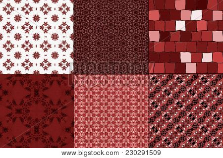 Red Wine Colored Burgundy Seamless Textures Wallpaper Pattern Design.