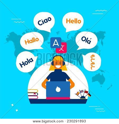 Internet Translation Communication Service Concept