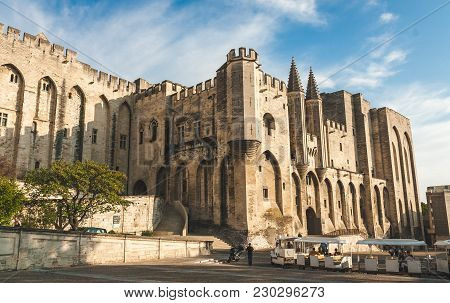 Papal Palace, Palais Des Papes, Former Residence Of Pope In 14th Century Is The Largest Medieval For
