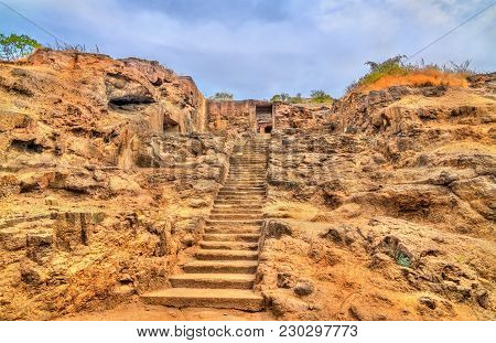 The Dashavatara Hindu Temple, Cave 15 At The Ellora Caves Complex - Maharashtra, India