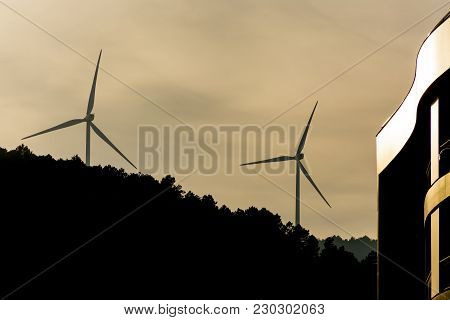Windmills Are Producing Electric For Our World.