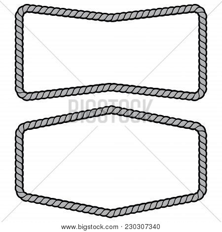 Rope Frames Illustration - A Vector Cartoon Illustration Of A Couple Of Rope Border Concepts.