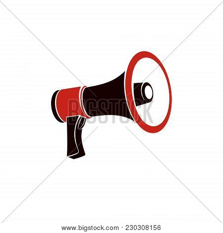 Loudspeaker Vector Illustration Isolated On White. Disinformation Idea, Misleading Information Conce