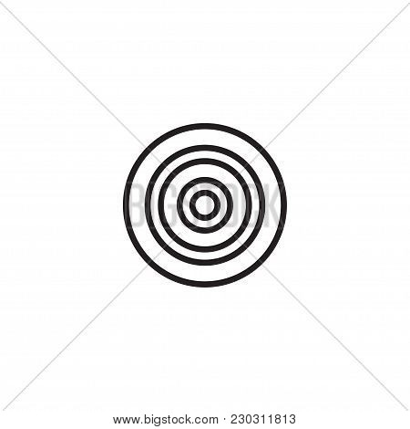 Target Line Icon, Outline Vector Logo Illustration, Linear Pictogram Isolated On White.